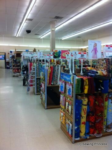 Inside Joann - fabrics / da Joann - stoffa