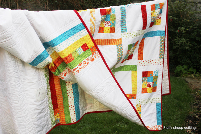 Fluffy sheep quilting quilt