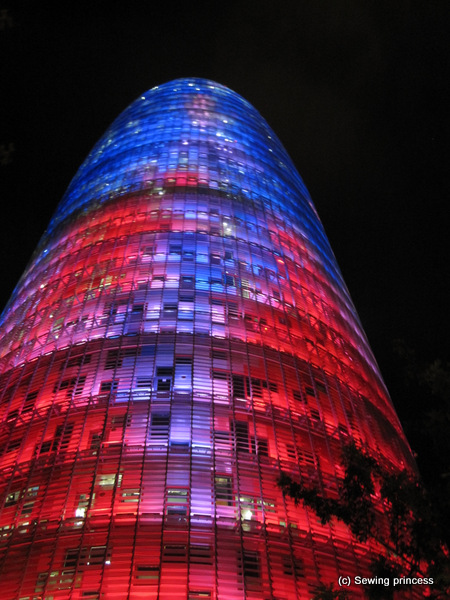 Torre Akbar by night