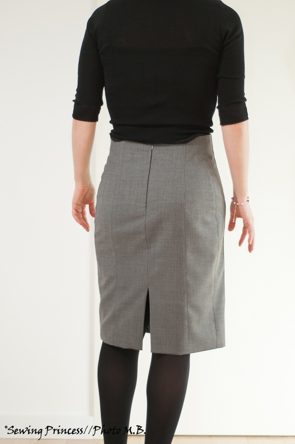 Apron Skirt - Pencil Skirt back