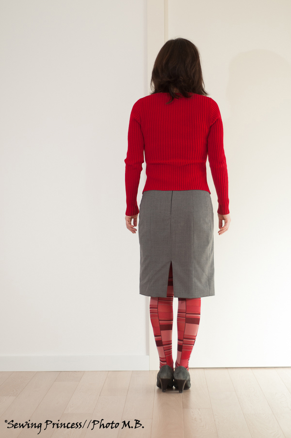 Grey and Red – Apron Skirt by Paco Peralta