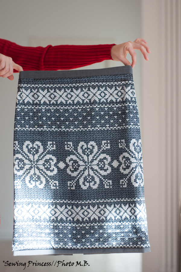 Apron Skirt - Pencil Skirt lining