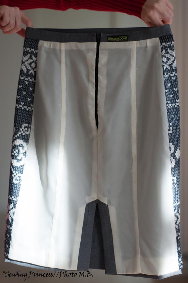 Apron Skirt - Pencil Skirt lining