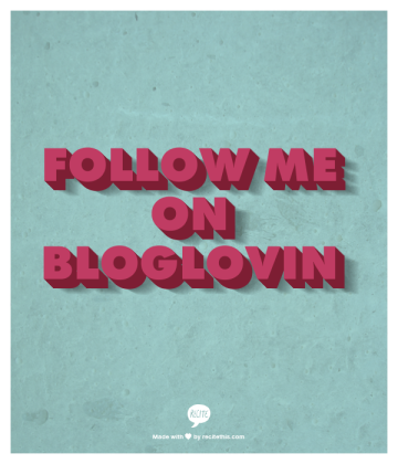 Follow me on Bloglovin