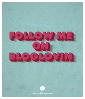 Follow me on Bloglovin
