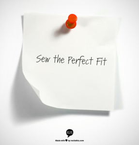 Sew the perfect fit logo