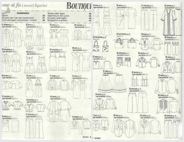 La mia boutique May 2013 patterns