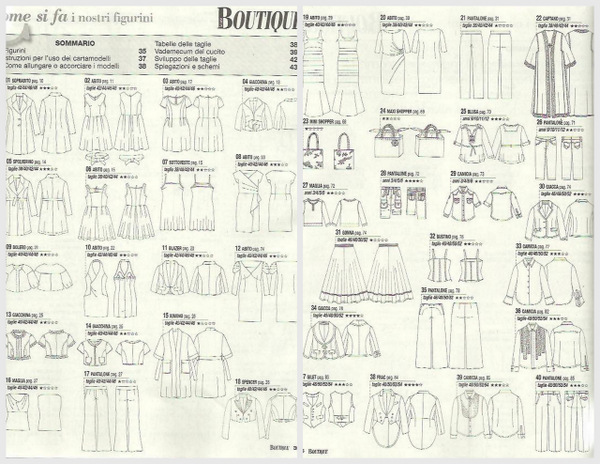 La mia boutique May 2013 patterns