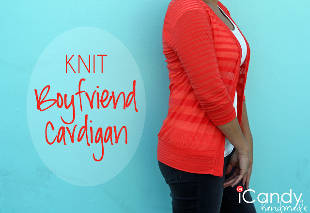 Knit Boyfriend Cardi tutorial by iCandy