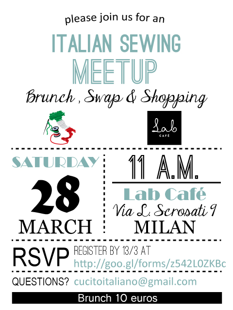 Italian Sewing Meetup Leaflet