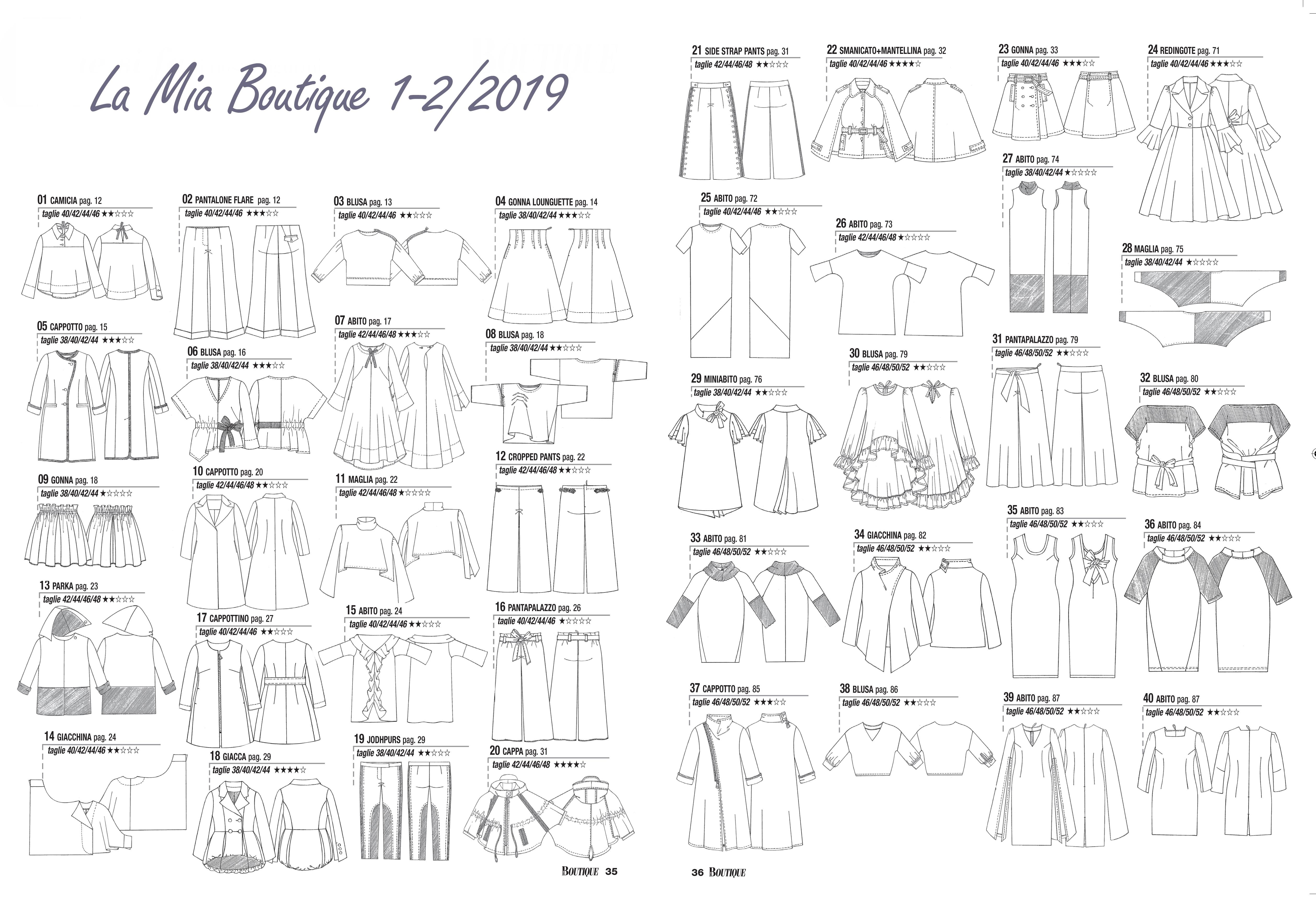 Abiti Eleganti Taglia 4648.La Mia Boutique 1 2 2019 Review Recensione Sewing Princess
